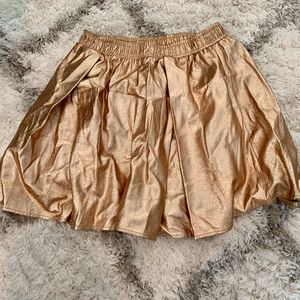 BCBGeneration High Wasted Gold Skirt